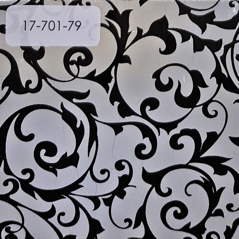 Verzierwachsplatte, Nr. 17-701-79, glanzs.-schwarz, Geprägt, 200 x 100 x 0,5 mm