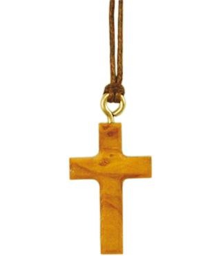 5x Halskreuz, 860004, Olivenholz, 3x1,8cm