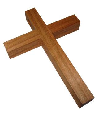 Holzkreuz, groß, 500705, 95x70mm, natur, geölt