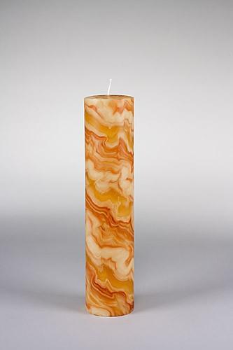 Stumpenkerze, 30 x 7 cm, 100% Bienenwachs, handgeknetet