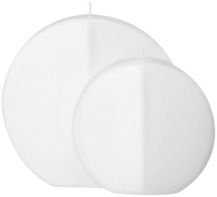 Form 13506, Doppelscheibe abgeflacht, 170x220x50, weiß get.