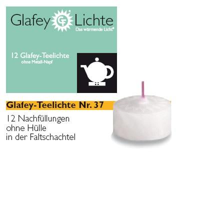 12 Glafey, Teelichter, Nr. 37, gegossen, ohne Napf