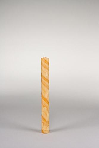 Stabkerze, 25 x 2,5 cm, 100% Bienenwachs, handgeknetet