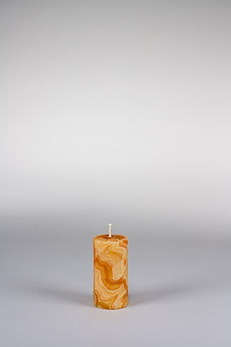 Stumpenkerze, 10 x 5 cm, 100% Bienenwachs, handgeknetet