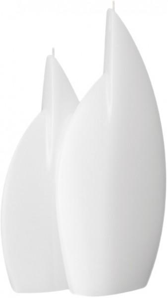 Form 13504, Doppelflamme, 295 x 168 x 60 + 250 x 105 x 40 mm, weiß getaucht