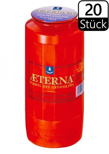 Ewiglichtöl-Kerzen, Aeterna Nr. 7, 7 Tage, rot, 100% Pflanzenöl