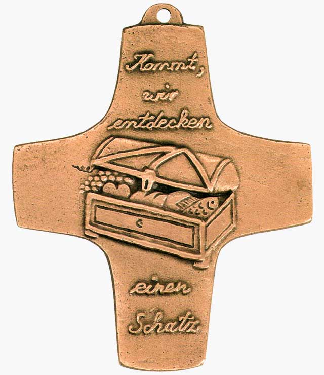 Bronzekreuz, 163, Schatzkiste, h=9,5cm