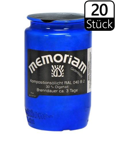 Grablichter, Memoriam Nr.336, ca. 3 Tage, blau