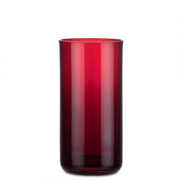 Aeterna, Ewiglicht-Glas, gerade, 16 cm, rubin