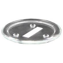 Glasteller, glatt, Ø140mm, für Kerzen bis 10cm Durchmesser
