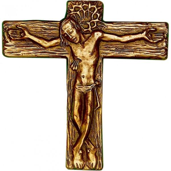Bronzekreuz, 800648, Kreuz mit Korpus, 13x12cm