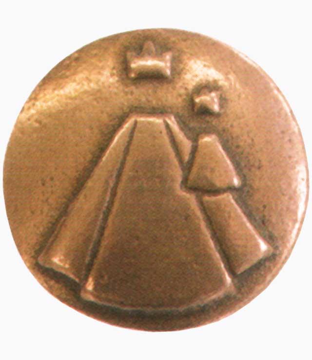 Handschmeichler, Mutter Gottes, Nr. 1187462, Bronze, mit Kart., H. 4cm