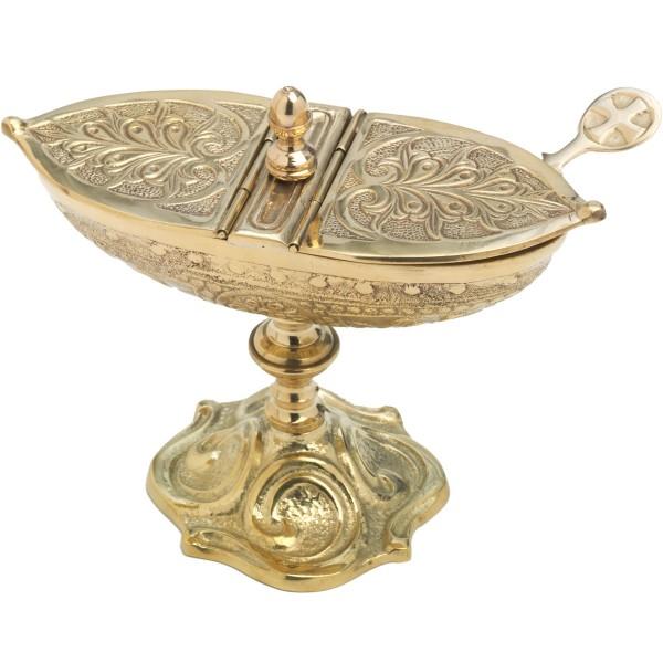 Schiffchen, klassisch, gold, Höhe 13 cm