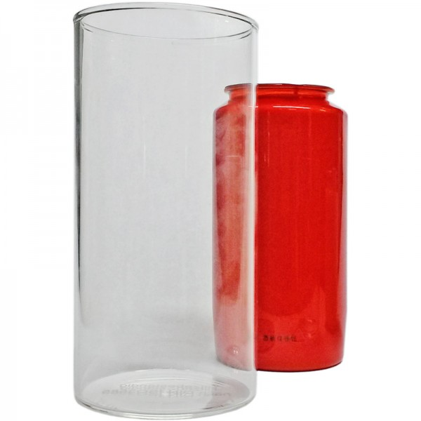 Schutzglas, für 6-7 Tage-Grablichter, Ø78x155mm