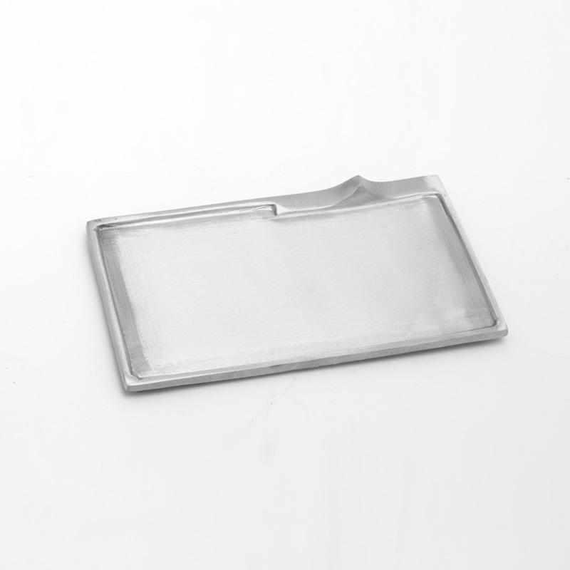 Rechteckleuchter klein, silber matt, 11x8cm, [6]