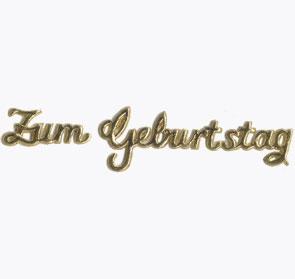 Schriftzug, Zum Geburtstag, gold, 90 x 12 mm