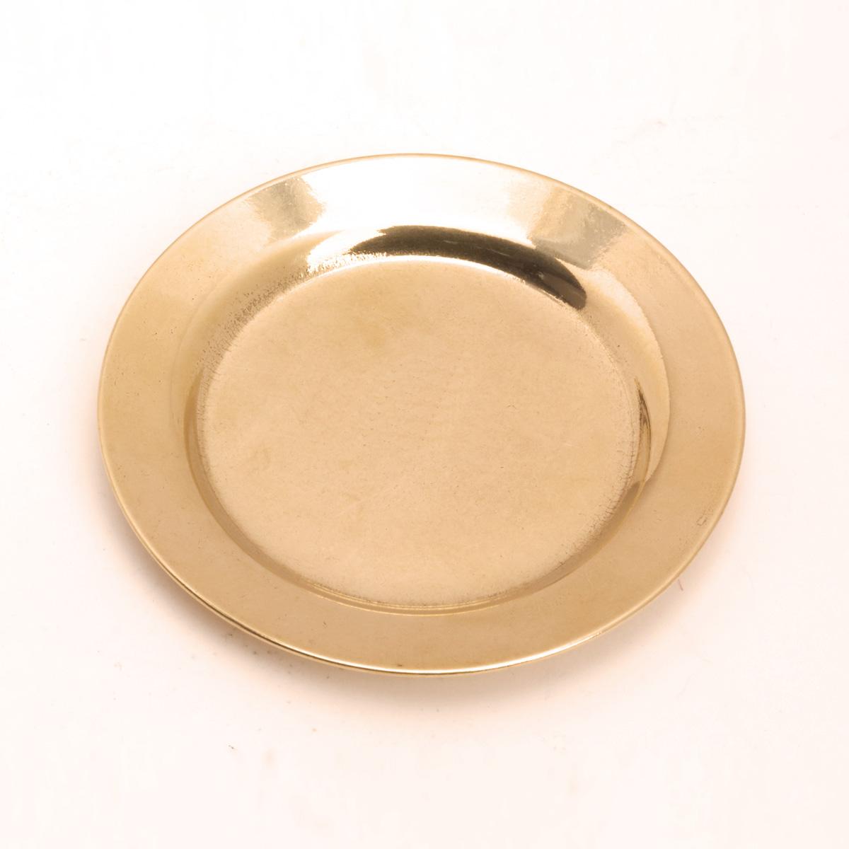 Kerzenteller rund, gold matt, Ø 11 cm
