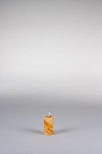 Stumpenkerze, 6 x 3 cm, 100% Bienenwachs, handgeknetet