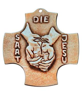 Bronzekreuz, 170, Die Saat Jesu, h=9,5cm