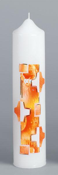 Liturgische Kerze, 2619, 265x60, Wachskreuze, ---Abverkauf---