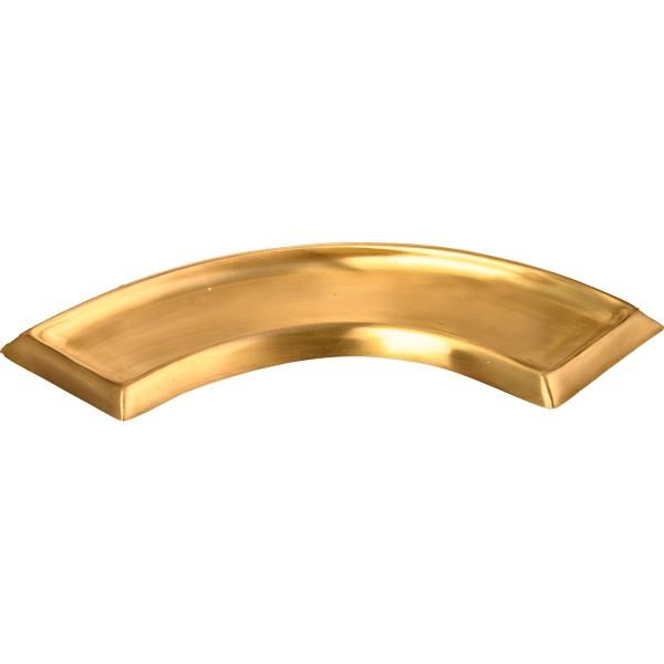 Kerzenteller, halbrund, gold matt