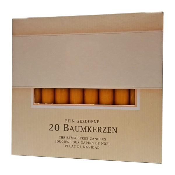 20 Baumkerzen, Bolsius, 96 x 12,8 mm, altrot