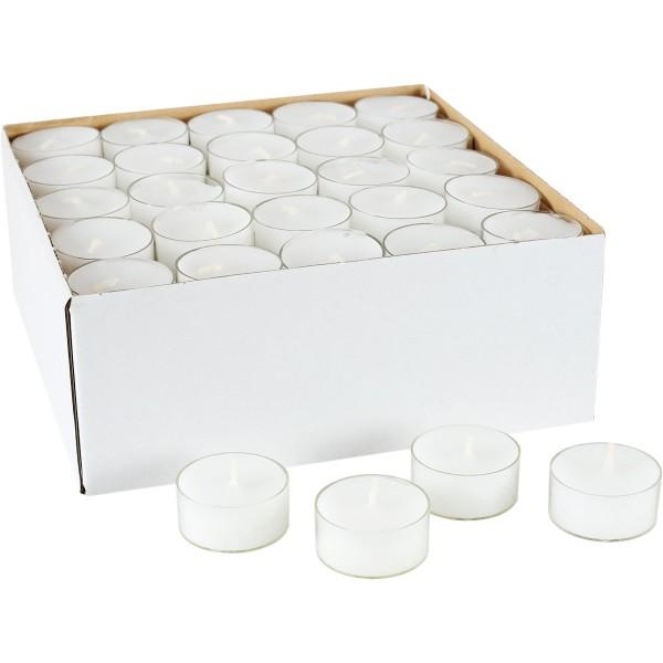 100 Teelichte mit Transp. Hülle, Ø=38mm, ~4h, Aktionspreis!