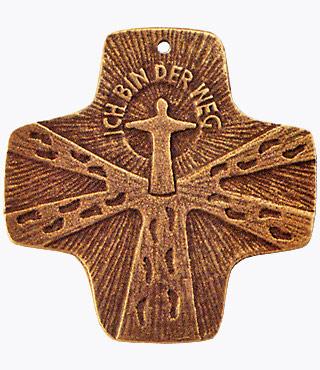 Bronzekreuz, 802036, Ich bin der Weg, 7 x 7 cm
