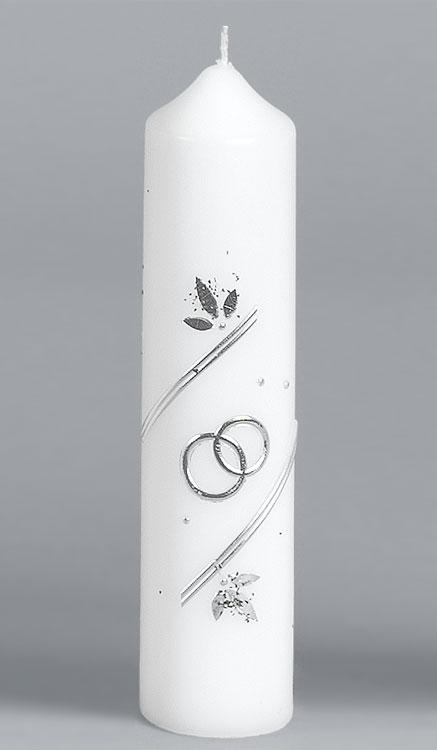 Silber-Hochzeitskerze, 927, 215x50, ---Abverkauf---