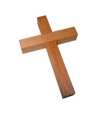 Holzkreuz, klein, 500704, 67x46mm, natur, geölt
