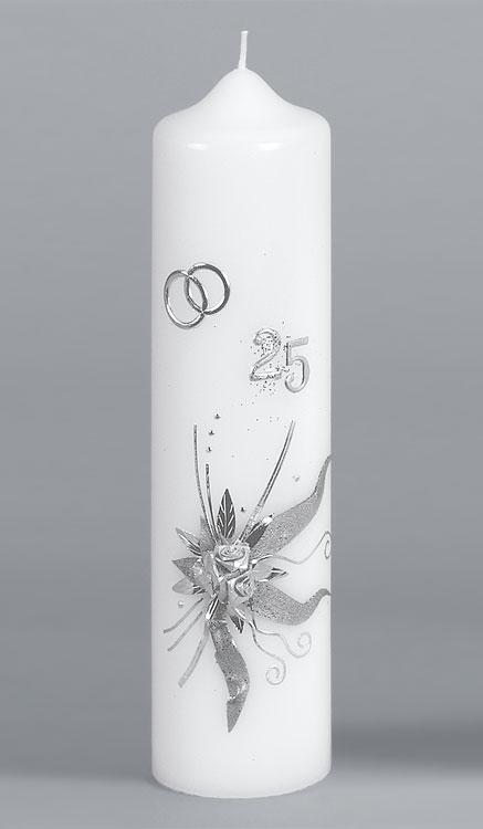 Silber-Hochzeitskerze, 922, 275x70, ---Abverkauf---