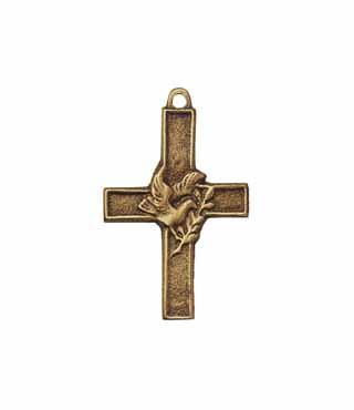 Umhängekreuz, UK3, mit Ring, ohne Kette, 5cm, (Taube)