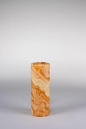 Stumpenkerze, 20 x 7 cm, 100% Bienenwachs, handgeknetet