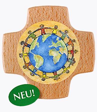 Holzkreuz, 810065, Kinder der Welt, 8x8cm