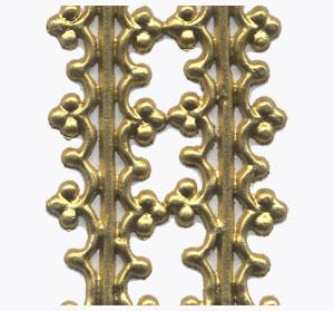 2 Borten, gold, 200x15