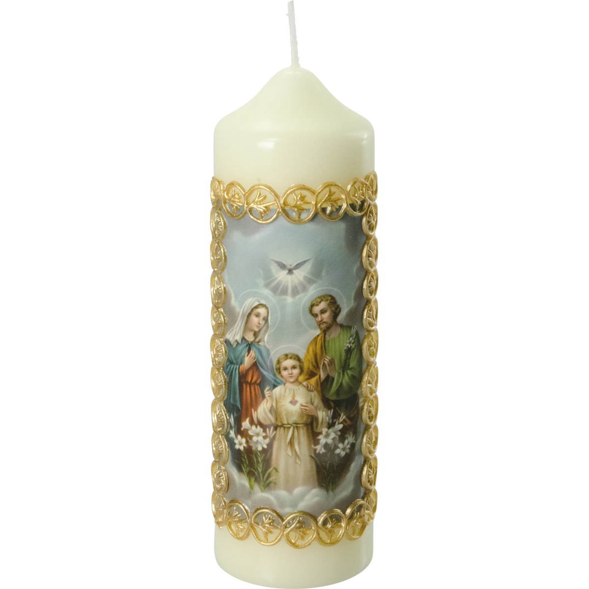 Heilige Familie Kerze, #812-K, 165x50, Fotodruck, Wachsborte