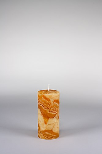 Stumpenkerze, 15 x 7 cm, 100% Bienenwachs, handgeknetet