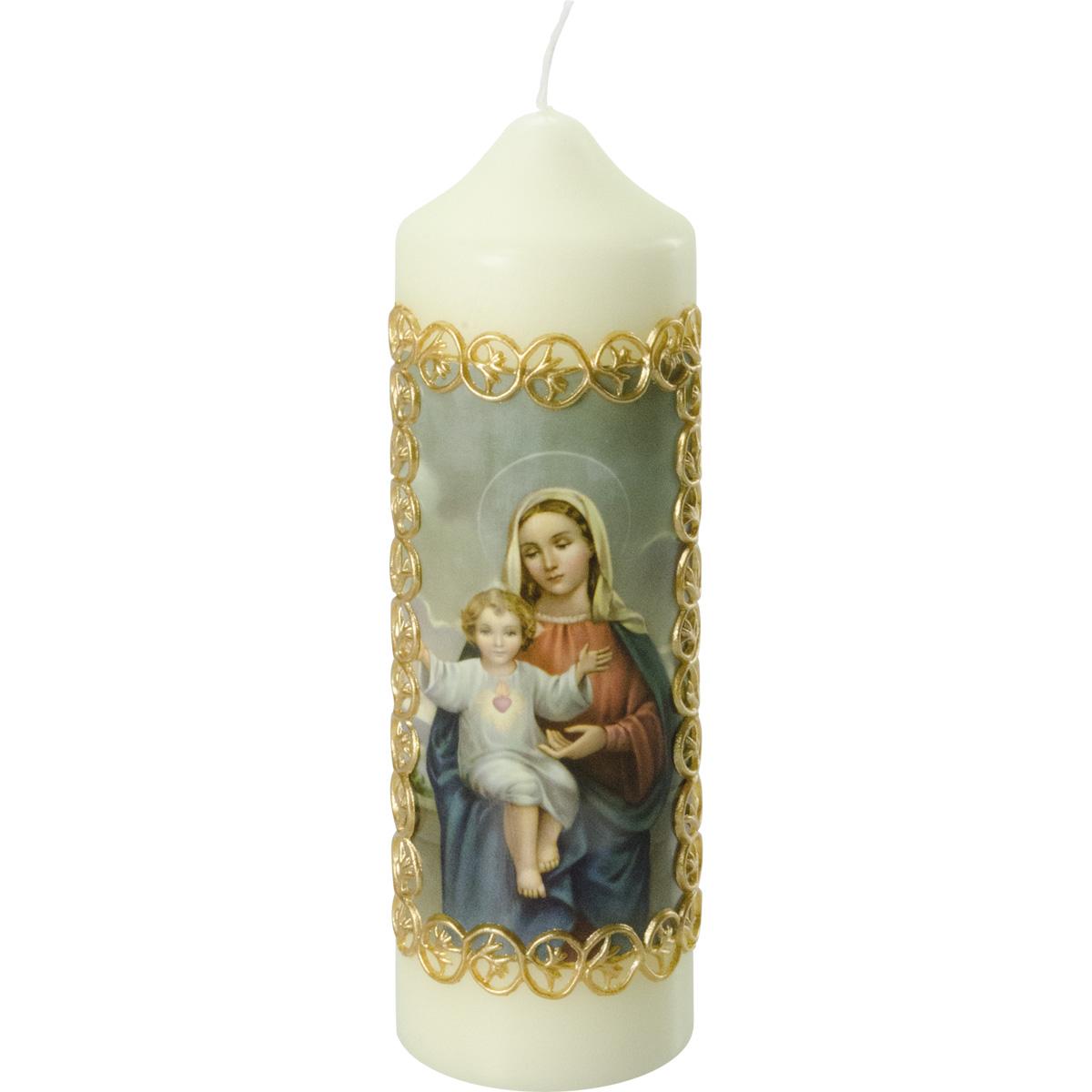 Liturgische Kerze / Marienkerze, 815-A, 165x50, Fotodruck