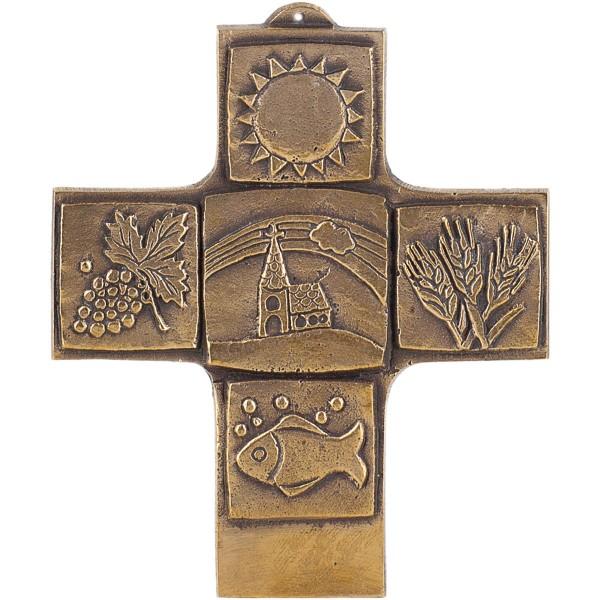 Bronzekreuz 142185, Symbolkreuz, Höhe ca. 10 cm