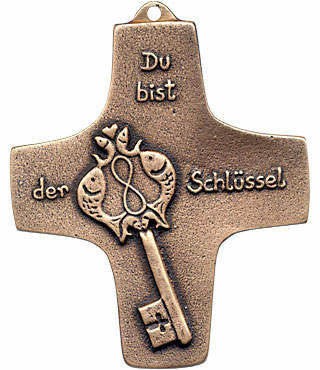 Bronzekreuz, 187, Du bist der Schlüssel, h=9,5cm