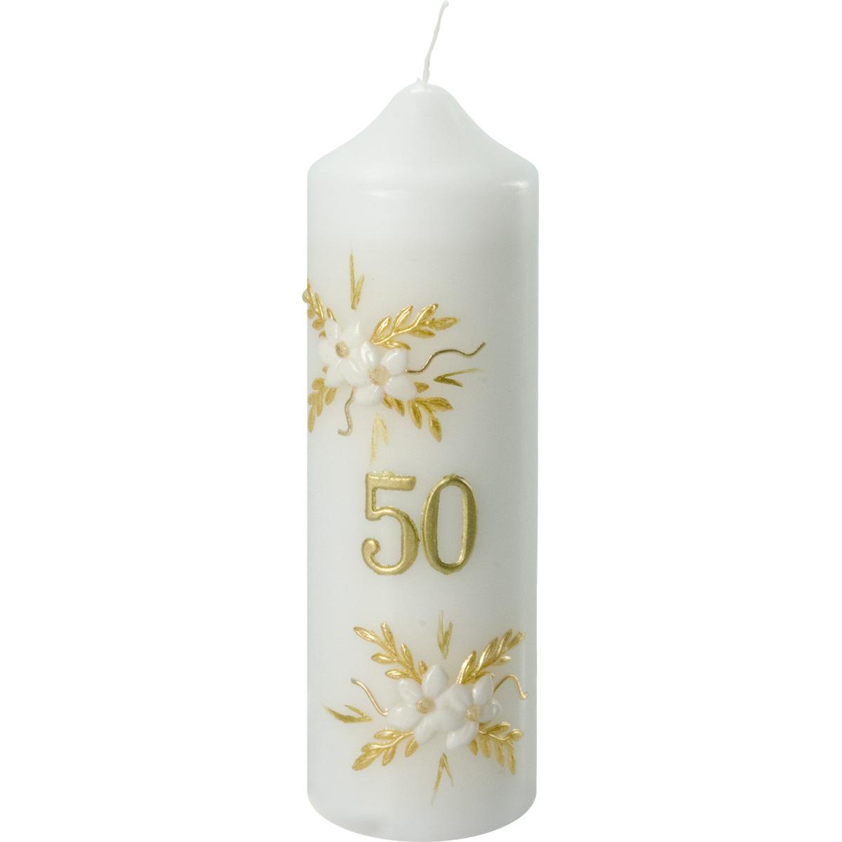 Goldene-Hochzeitskerze, #956, 165x50