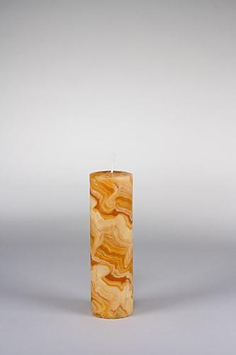 Stumpenkerze, 20 x 6 cm, 100% Bienenwachs, handgeknetet