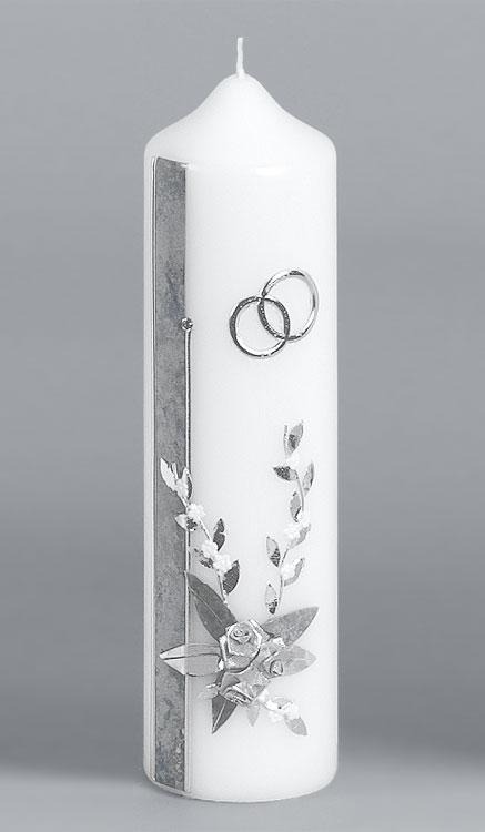 Silber-Hochzeitskerze, 921, 220x60, ---Abverkauf---