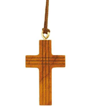 5x Halskreuz, 860007, Olivenholz, 4,2x2,5cm