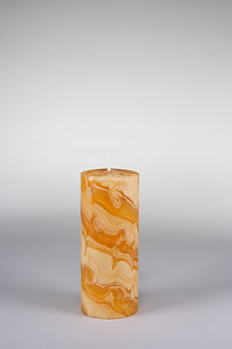 Stumpenkerze, 20 x 8 cm, 100% Bienenwachs, handgeknetet