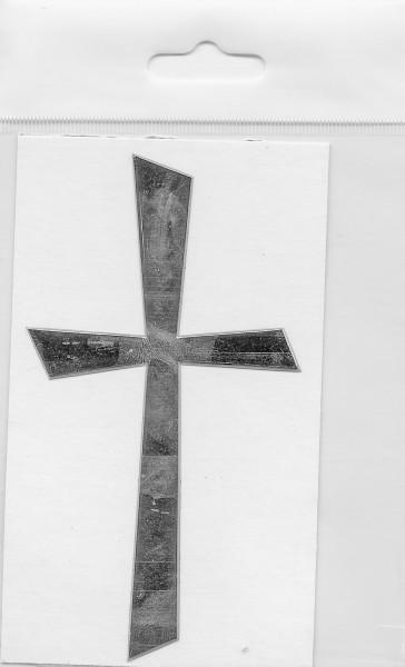 Wachsauflage, Kreuz 1, glanzsilber, 105x57mm