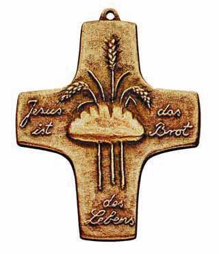 Bronzekreuz, 137, Brot des Lebens, h=10cm