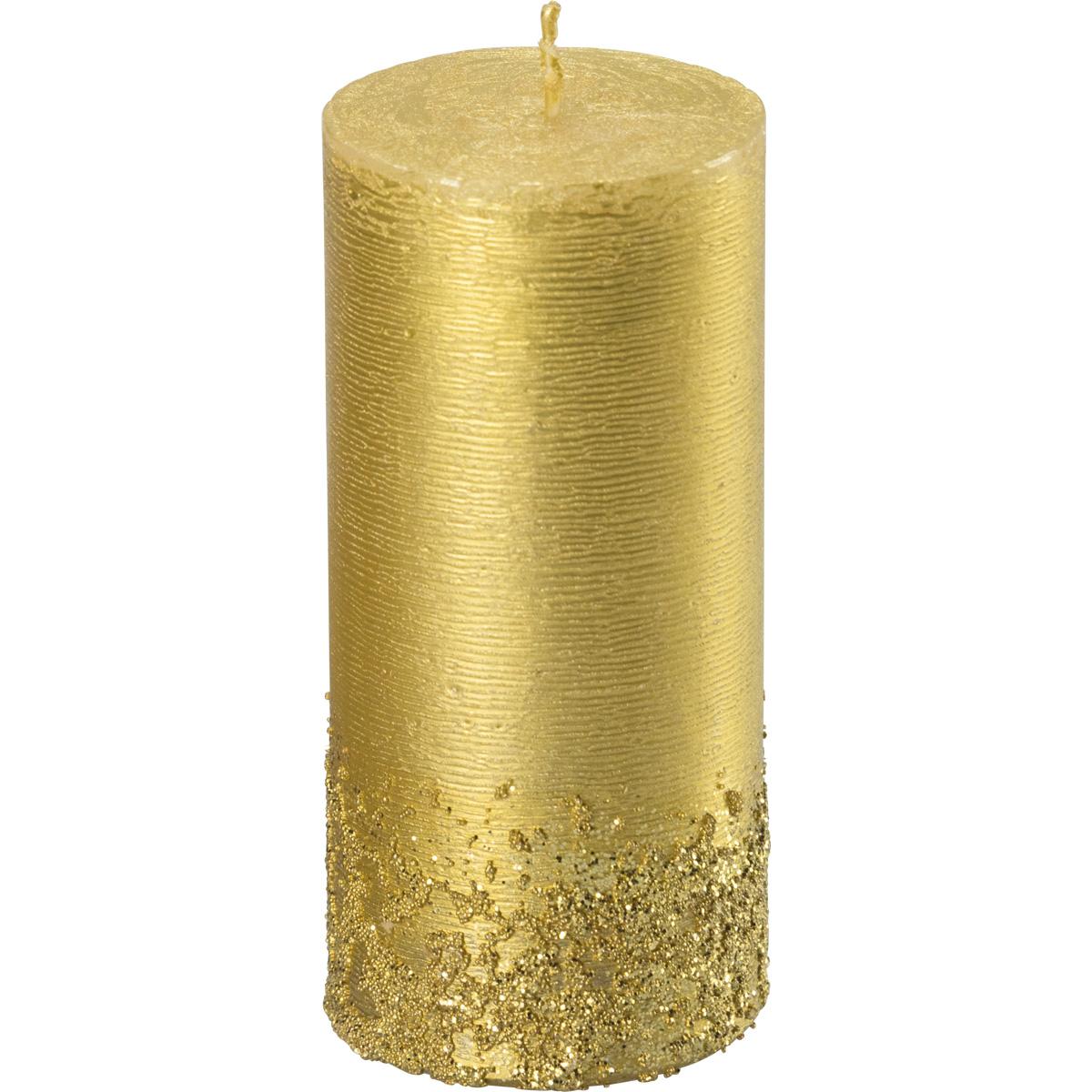 Weihnachtskerze, 3026, 130x60, gold, Serie Calla