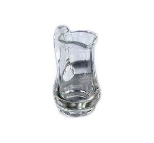 Messweinkännchen, mundgeblasen, 1/8l., Kreuzgravur, Höhe ca. 9cm