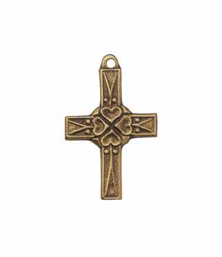 Umhängekreuz, UK2, mit Ring, ohne Kette, 5cm, (Herzen)